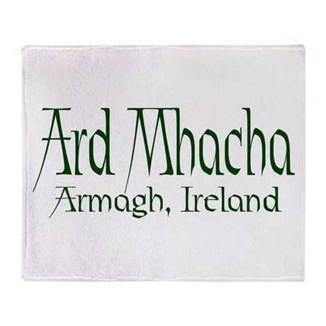 County Armagh (Gaelic) Throw Blanket