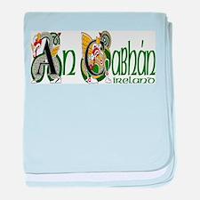 Cavan Dragon Gaelic baby blanket