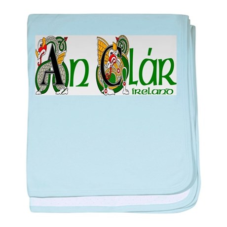 County Clare (Gaelic) baby blanket