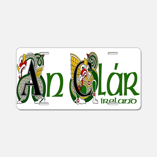 County Clare (Gaelic) Aluminum License Plate