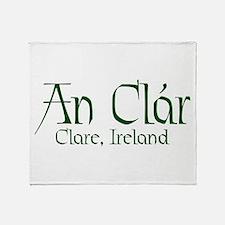County Clare (Gaelic) Throw Blanket