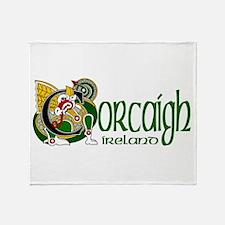 Cork Dragon (Gaelic) Throw Blanket