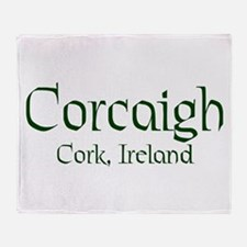 County Cork (Gaelic) Throw Blanket