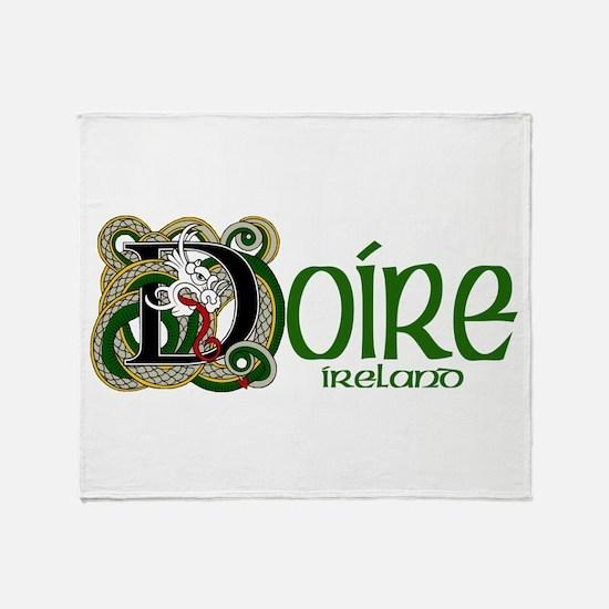 Derry Dragon (Gaelic) Throw Blanket