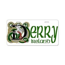 County Derry Aluminum License Plate