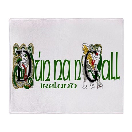 Donegal Dragon (Gaelic) Throw Blanket