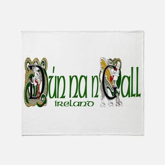 Donegal Dragon (Gaelic) Throw Blanket