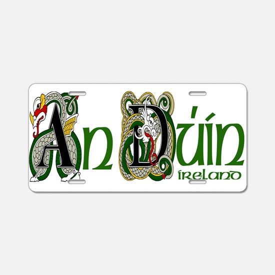 Down Dragon (Gaelic) Aluminum License Plate