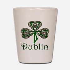 Dublin Shamrock Shot Glass