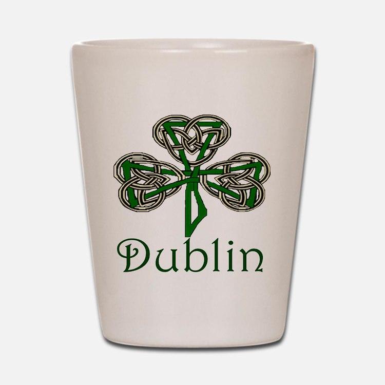 Dublin Shamrock Shot Glass