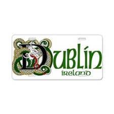 Dublin, Ireland Aluminum License Plate