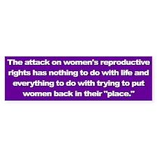 women's rights... Bumper Bumper Sticker