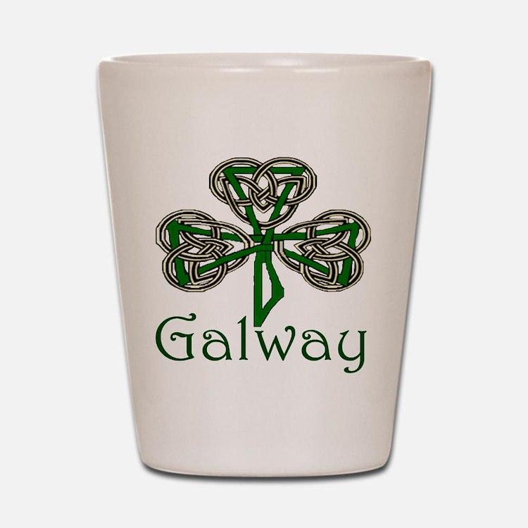 Galway Shamrock Shot Glass