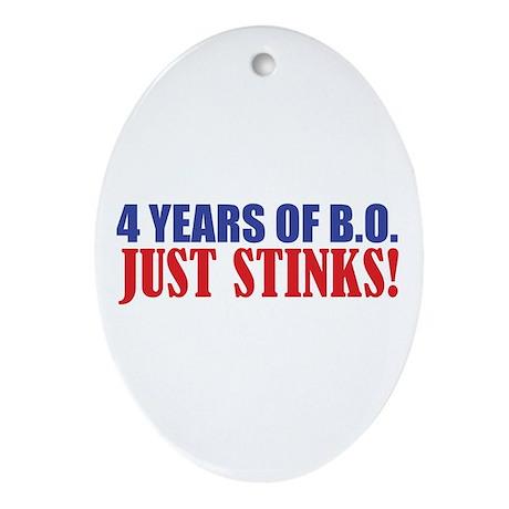 Obama Stinks Ornament (Oval)