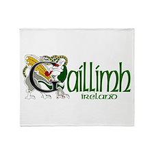 Galway Dragon (Gaelic) Throw Blanket