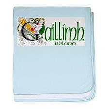 Galway Dragon (Gaelic) baby blanket