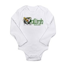 Galway Dragon (Gaelic) Long Sleeve Infant Bodysuit