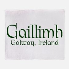 County Galway (Gaelic) Throw Blanket