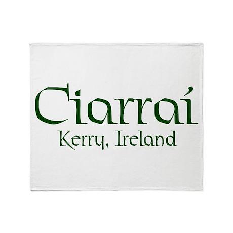 County Kerry (Gaelic) Throw Blanket