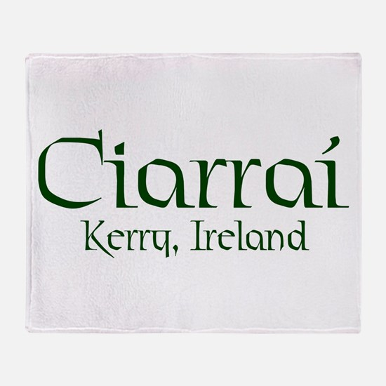 County Kerry (Gaelic) Throw Blanket