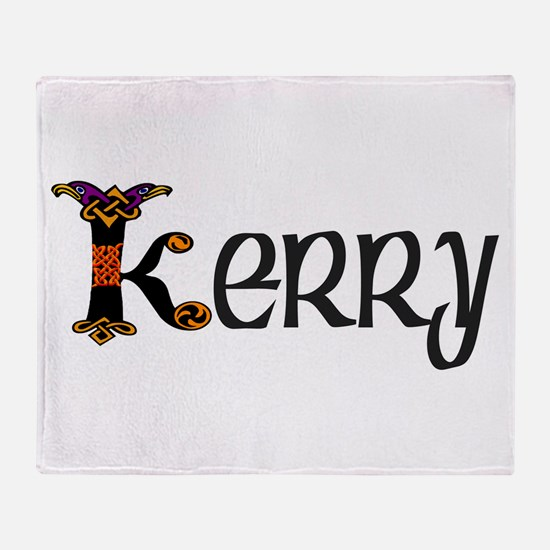 Kerry Kells Initial Throw Blanket