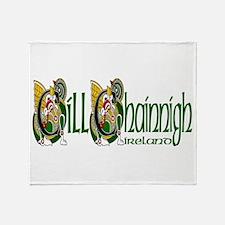 Kilkenny Dragon (Gaelic) Throw Blanket