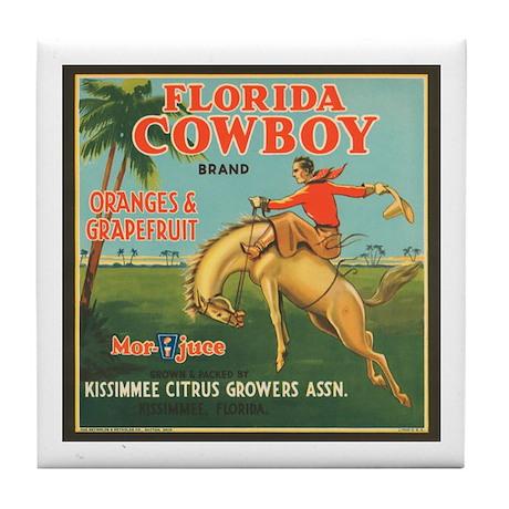 Florida Cowboy Tile Coaster