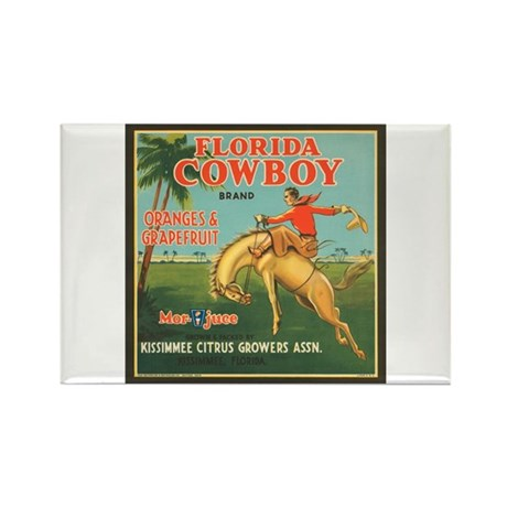 Florida Cowboy Rectangle Magnet