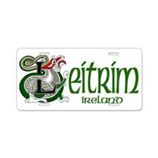 County Leitrim Aluminum License Plate