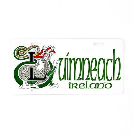 Limerick Dragon (Gaelic) Aluminum License Plate
