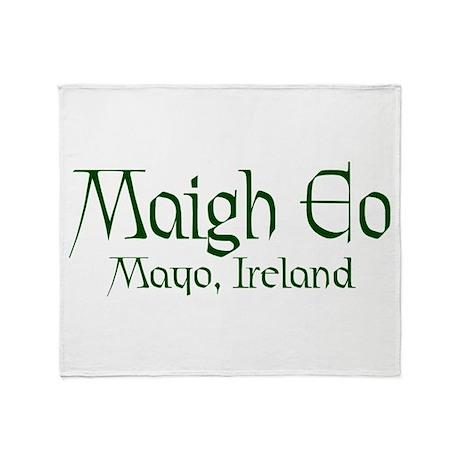 County Mayo (Gaelic) Throw Blanket
