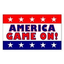 America Game On Rectangle Decal