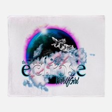 Twilight WolfGirl Throw Blanket