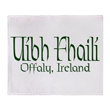 County Offaly (Gaelic) Throw Blanket