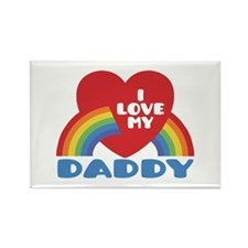 I Love My Daddy Rectangle Magnet