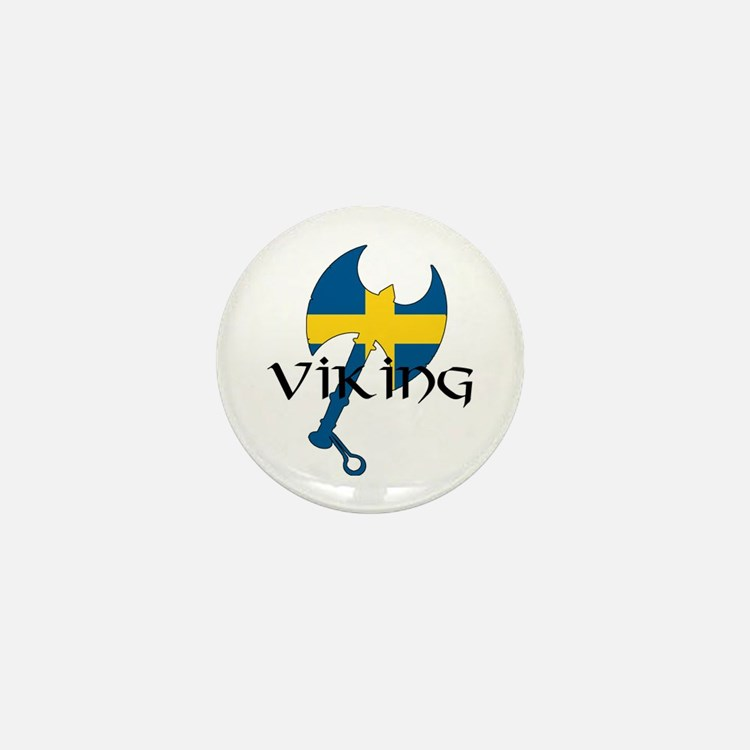 Swedish Viking Axe Mini Button