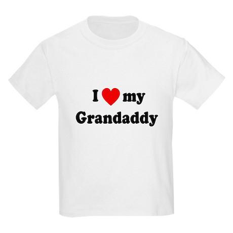 I Love My Grandaddy Kids Light T-Shirt