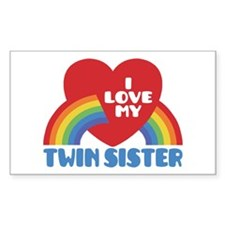 I Love My Twin Sister Decal