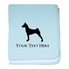 Basenji - Your Text! baby blanket