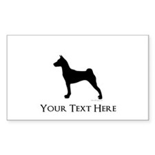 Basenji - Your Text! Decal
