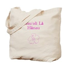 Hawaiian Birthday Pink Tote Bag