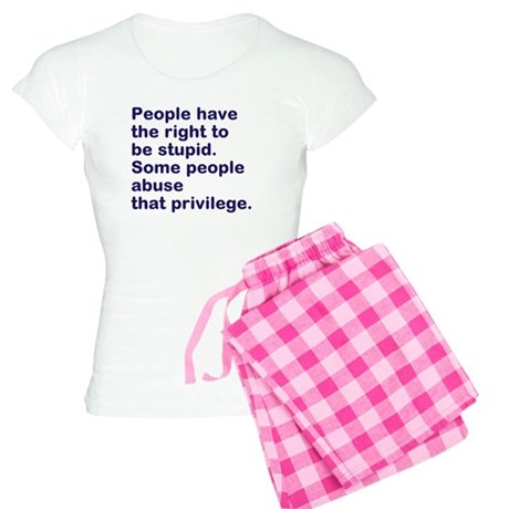 People have the right to be s Women's Light Pajama