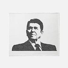 Ron Reagan Icon Throw Blanket