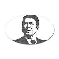 Ron Reagan Icon 22x14 Oval Wall Peel