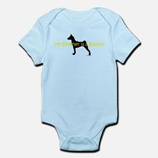 My Brother is a Basenji Infant Bodysuit