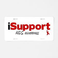 iSupport AIDS Aluminum License Plate