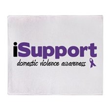 iSupport Domestic Violence Throw Blanket