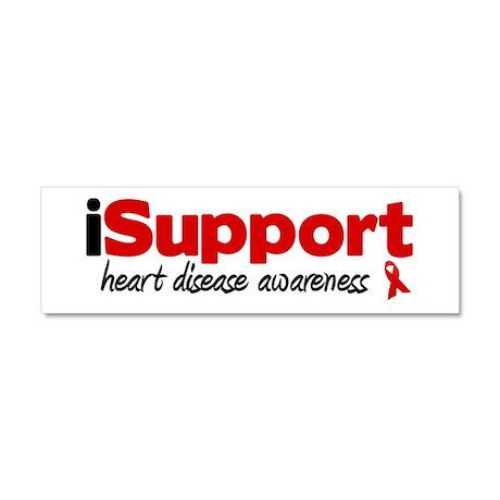 iSupport Heart Disease Car Magnet 10 x 3