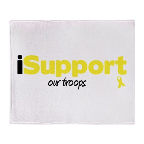 iSupport Troops Throw Blanket