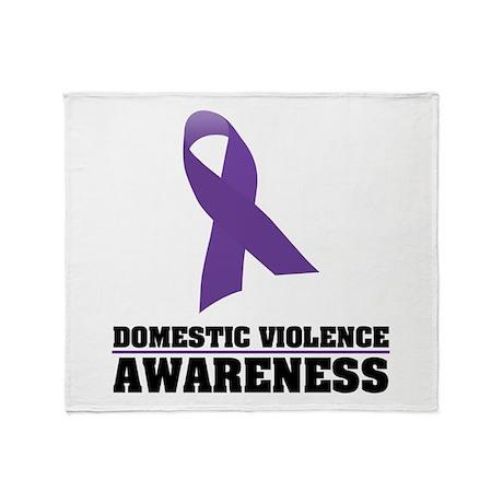 DV Awareness Throw Blanket